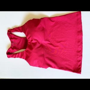 Athleta Racerback Tank Top Build In Bra sz 34D